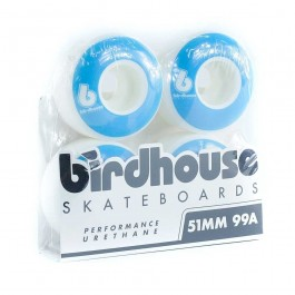 Birdhouse B Logo 4 Pack Of Wheels - 51mm - Blue