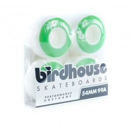 Birdhouse B Logo 4 Pack Of Wheels - 54mm - Green