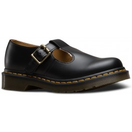Dr.Martens Womens Polley Smooth Shoes - Black