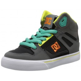 DC Kids Spartan High SE Shoes - Grey/Blue