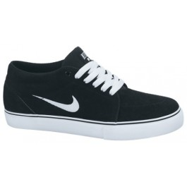 Nike Mens SB Satire Mid-Top Shoe - Black/White