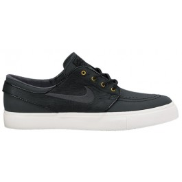 Nike Mens SB Zoom Stefan Janoski Premium Shoes - Black/Anthracite-Sail