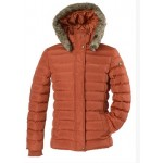 Kanyon Women's Fisher Puffer Jacket - Burnt Sienna