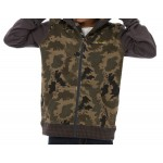 Animal Boy's Basecamp 2 Full Zip Hoodie - Camo Green