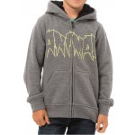 Animal Boy's Reflector Hoodie, Charcoal Grey Marl