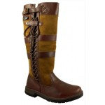 Kanyon Women's Ash Wide Fitting Waterproof Leather Boot - Brown