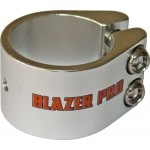 Blazer 2 Bolt Scooter Clamp Plus Shim - Silver