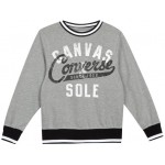 Converse Youth Boys Logo Crew Neck Sweatshirt - Vintage Grey Heather