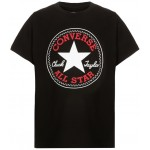 Converse Youth Boys Short Sleeved Logo Tee - Black