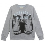 Converse Boys Knock Out Crew Jumper - Vintage Grey Heather