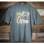 Uber Moose Mens Don't Just Stand There (Bike) T-Shirt - Grey