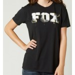 Fox Womens Aimless Relaxed Crew T-Shirt - Black