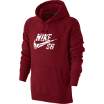 Nike SB Icon Grip Tape Pullover Men's Hoodie - Gym Red/White