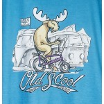 Uber Moose Mens Old's Cool Chopper T-Shirt - Blue