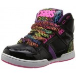 Osiris Youth-Girls NYC 83 Slim Hi-Tops - Black/Purple/Rainbow