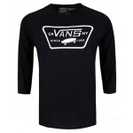 Vans Mens Full Patch Raglan T-Shirt - Black/Black