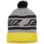 Santa Cruz Mens Long Strip Beanie - Dark Heather