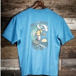 Uber Moose Mens Surf Sup T-Shirt - Blue