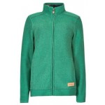 Weird Fish Womens Wilderness Full Zip Classic Macaroni Sweatshirt - Fir Green